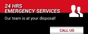 24 hrs emergency services - Our team is at your disposal!