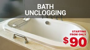 Bath unclogging