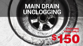Main Drain Unclogging